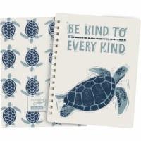 "8"" x 6"" Be Kind To Every Kind Blue Sea Turtle Journal"