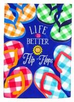 """18"""" x 13"""" Mini Blue Life Is Better In Flip Flops Garden Flag"""
