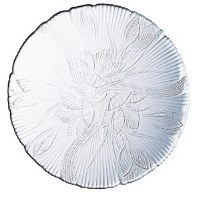 "11"" Glass Magnolia Buffet Plate"