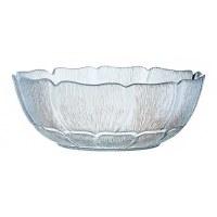 "9"" Round Glass Fleur Bowl"