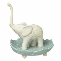 "4 "" White Elephant Ring Holder"