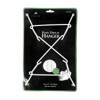 """16"""" Large White Metal Wire Super Plate Hanger"""