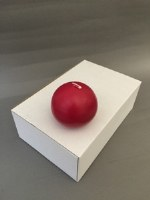 """2.75"""" Dark Red Candle Ball"""