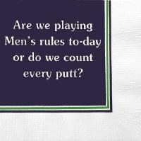 "5"" Square Men's Rules Paper Beverage Napkin"