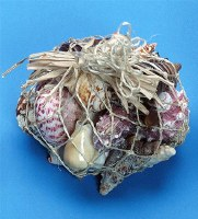 Hanging Abaca Net Shell Bag