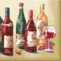"""5"""" Square Cream Wine Cellar Beverage Napkins"""