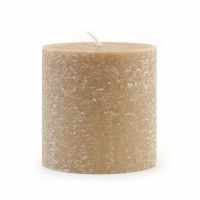"3"" x 3"" Taupe Unscented Timberline Pillar Candle"