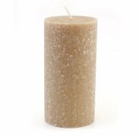 "6"" x 3"" Taupe Unscented Timberline Pillar Candle"