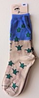 Sand, Blue and Green Sea Turtle Hatchling Socks