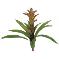"19"" Orange & Peach Artificial Bromeliad Plant"