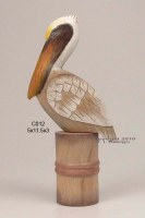 "12"" Pelican Perched on Piling"