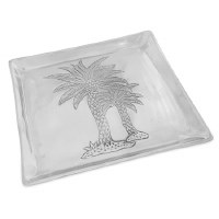 "12"" Square Aluminum Palm Tree Tray"