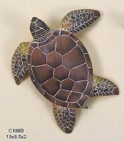 "10"" Large Green Sea Turtle Wall Plaque"