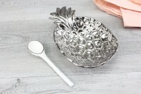Gift Set of Porcelain Pineapple Bowl with Spreader