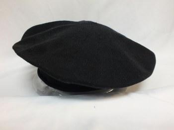 """Parkhurst Beret Cotton11"""" Black 30017001"""