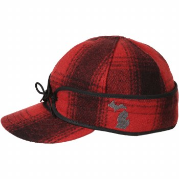 Stormy Kromer Michigan Embroidery Red/Black 7 1/4 SK51300RD/BK72/8