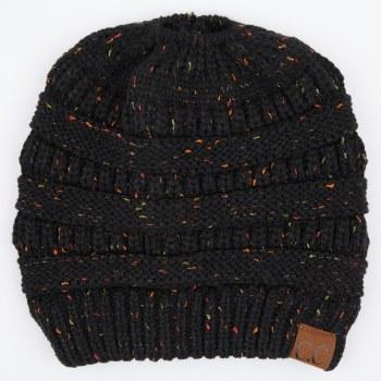 Cheveux Beanietail Confetti Hat Black MB-33BLK
