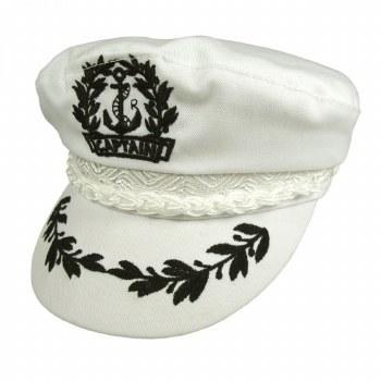 Aegean Captain's Cap Cotton White 7 1/4 AEG112-WHT72/8