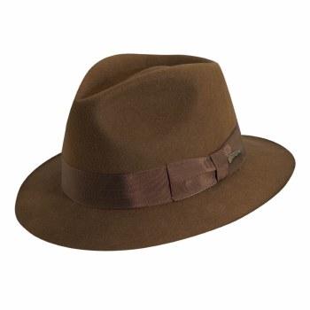 Dorfman Pacific Indiana Jones Wool Felt Fedora Kids Small 551BKSM