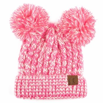 Cheveux Pom Pom Hat Hot Pink HAT-23-HTPNK