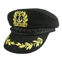 Aegean Captain's Cap Wool Black 6 3/4 AEG111BLK66/8