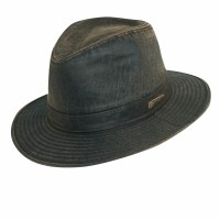 Dorfman Pacific Indiana Jones Weathered Cotton Fedora Small IJ21S