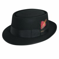 Dorfman Pacific Jazz Wool Felt Fedora Black Medium WF509BBLKM