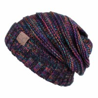Cheveux Over Sized Slouchy Black/Multi HAT-6242-BK/MT