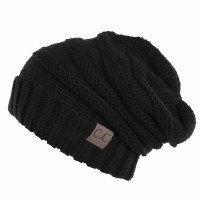 Cheveux Over-sized Slouchy Black HAT-100-BLACK