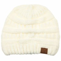 Cheveux Ribbed Chenille Hat Ivory HAT-30IVRY