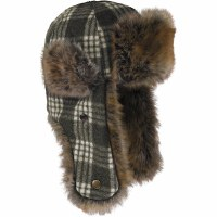Stormy Kromer Northwoods Trapper Charcoal /White Plaid Extra Large SK51210CWTE