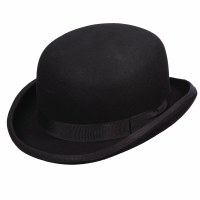 Dorfman Pacific Wool Felt Bowler Black Medium WF507BLKM