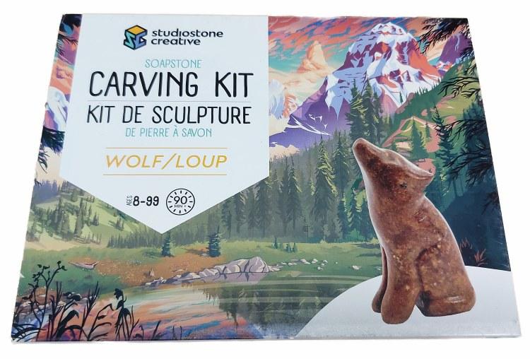 Sculpture de pierre à savon - Loup