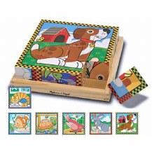 Casse-tête cubes 16 mcx - animaux