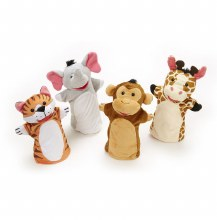 Marionnettes Main - Amis du  Zoo