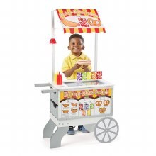 Chariot crème glacée et hot dogs