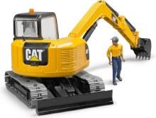 Mini pelle CAT avec travailleur