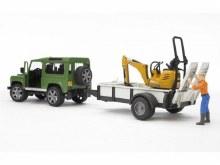 Land Rover et remorque