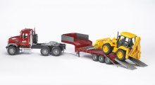 Camion MACK avec tractopelle