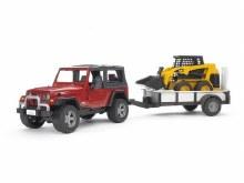Jeep Wrangler Rubicon avec remorque et chargeur