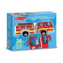Casse-tête de plancher, 24 mcx - Camion de pompier
