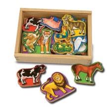 Aimants d'animaux en bois