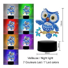 Jacarou Diamants - Lampe Hibou