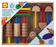 Outils de bois pour pâte à modelé