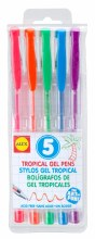 5 stylos gel - Tropical