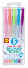 5 stylos gel - Néon
