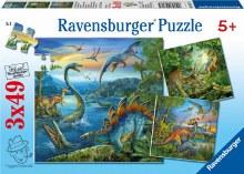 3 casse-têtes, 49 mcx - Les dinosaures