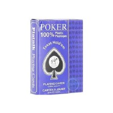 Cartes poker 100% plastique