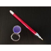 Stylet lumineux Rouge et cire odorante