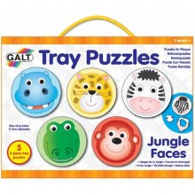 Casse-puzzles en plaque - les visages de la jungle